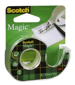 SCOTCH TAŚMA SAMOPRZYLEPNA MAGIC NA PODAJNIKU 19 MM X 7,5M SC1002